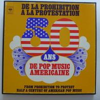 Coffret 5 LP / De La Prohibition à La Protestation  50 Ans De Pop Music Américaine / 1973 - CBS - Pressage FR - Vinyl-Schallplatten