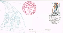 33538. Carta VICH (Barcelona) 1983, Semana Catalana Ciclismo, 1ª Etapa Caldes Montbui A Vic - 1931-Hoy: 2ª República - ... Juan Carlos I