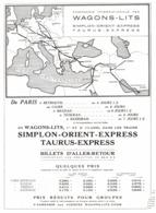 """PUB WAGONS-LITS  """" SIMPLON ORIENT-EXPESSE  """" 1934 ( 1 ) - Chemin De Fer"""