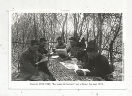 Photographie , Militaria ,guerre 1914-1918 ,le Salon De Lecture Sur Le Front ,fin Mai 1915 , Caudrilliers/Excelsior - Guerre, Militaire