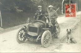 Carte-photo -  Retour De Chasse - Automobile Dion Bouton - Chasse