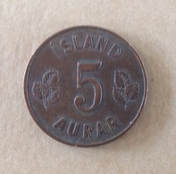 PA. MO. 114. Islande 1963. 5 Aurar. - Islande