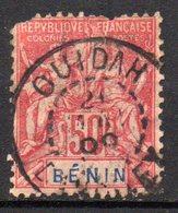Col16 Colonie Bénin N° 43 Oblitération Choisie Ouidah - Oblitérés