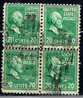 US 545 // YVERT   390 X 4 // 1938 - Stati Uniti