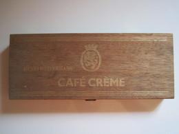Ancienne Boite En Bois CIGARILLOS CAFÉ CRÈME Henri WINTERMANS 22 X 9 Cm - Scatole