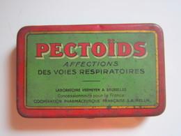 Ancienne Boite De PHARMACIE Ouverture Charnière : PECTOÏDS AFFECTIONS DES VOIES RESPIRATOIRES  PRIX 90 Frs  8,5 X 5,5 Cm - Boîtes