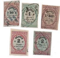 Timbres De Dimension-ND -  1872-a 1873  -5 Timbres -  Voir Scans - Fiscali