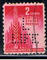 US 601 // YVERT  473 PERFORÉ/ PERFIN // 1943 - Perforados