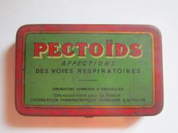 Ancienne Boite De PHARMACIE Ouverture Charnière PECTOÏDS AFFECTIONS DES VOIES RESPIRATOIRES  PRIX 120 Frs  8,5 X 5,5 Cm - Boîtes