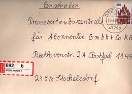 ! 6 Einschreiben Dabei 5x Mit Rückschein, R-Zettel, 1993-97, Aus Krefeld, 47798, 47809 - BRD