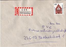 ! 1 Einschreiben , R-Zettel, 1993, Aus 48336 Sassenberg - R- & V- Vignetten