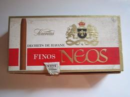 "Boîte à Cigares Bois ""Senoritas Finos Neos"" Dechets De Havane 18 X 9 Cm - Boîtes"