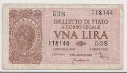 ITALY  P. 29c 1 L 1944 UNC - [ 1] …-1946 : Koninkrijk