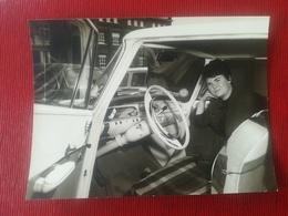 TABLEAU DE BORD DE VOITURES VOITURE AUTOMOBILES LOT 9 PHOTOS ORIGINALES PERSONNES IDENTIFIÉES BELGIQUE TOURNAI HOMME - Automobiles