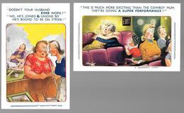 BAMFORTH COMIC - SERIE 1659 - 1713 - 2 CARTOLINE - Humor