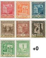 Ref. 595831 * MNH * - ANDORRA. Spanish Adm.. 1935. ANDORRA LANDSCAPES . PAISAJES DE ANDORRA - Nuevos