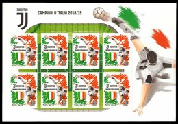 Italia Repubblica 2019 Foglietto Juventus Juve Euro 8,80 MNH** Integro Campionato Campione D'Italia - Blocs-feuillets