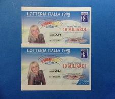 1998 BIGLIETTO LOTTERIA NAZIONALE ITALIA ESTRAZIONE 1999 SERIE AN NUMERI CONSECUTIVE - Billetes De Lotería