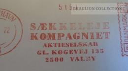 D165990 Denmark Danmark  -EMA- Freistempel -METER STAMP- SK- Saekkeleje Kompagniet -Valby - Kobenhavn 1972 - Vignette Di Affrancatura (ATM/Frama)