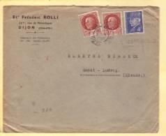 Lettre Ets Rolli Dijon 03.11.1943 Aff Pétain -> St Louis -Zensur/Censored/Censure E Francfort/M. - Marcophilie (Lettres)