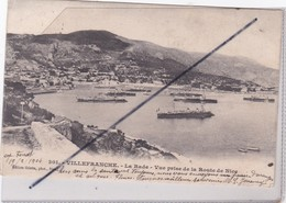 Villefranche (06) La Rade - Prise De La Route De Nice (carte Précurseur De 1904) - Villefranche-sur-Mer