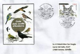 La Perdrix Des Neiges. (perdiz Nival) Europa 2019 . FDC (illustration Guia Dels Ocells D'Andorra). - FDC