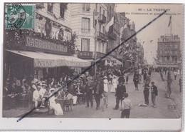 Le Tréport (76) Café Du Commerce Et Quai François 1er (importante Animation) - Le Treport