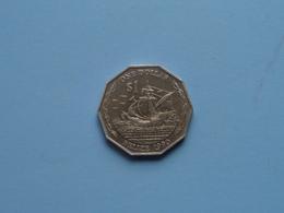 One (1) $ 1990 - KM 99 ! - Belize