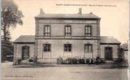 27 - SAINT AUBIN D'ECROSVILLE --  Mairie Et Ecole Des Garçons - Saint-Aubin-d'Ecrosville