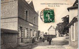 27 - SAINT AUBIN D'ECROSVILLE -- Bureau De Poste - Saint-Aubin-d'Ecrosville