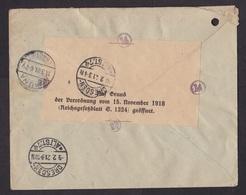 Austria: Registered Cover To Germany, 1921, 2 Stamps, Censored, Rare Censor Label, Bohemian Bank (minor Damage) - Brieven En Documenten