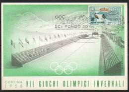ITALIA  - ITALY - ITALIE - 27/01/1956 - GIOCHI OLIMPICI INVERNALI DI CORTINA - SCI FONDO 30 KM - ANNULLO - Winter 1956: Cortina D'Ampezzo