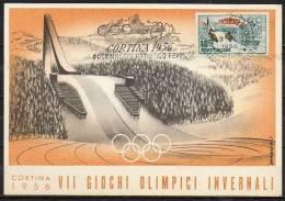 ITALIA  - ITALY - ITALIE - 31/01/1956 - GIOCHI OLIMPICI INVERNALI DI CORTINA - PATTINAGGIO ARTISTICO FEMMINILE - ANNULLO - Winter 1956: Cortina D'Ampezzo