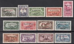 1925-30 Yvert Nº 22 / 34 MH - Alaouites (1923-1930)