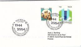 ITALIA.  STORIA WWII. 60° ANNIVERSARIO CORPO ITALIANO DI LIBERAZIONE MEDA 2004 - 2001-10: Storia Postale