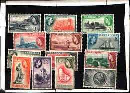 5950BIS )  1953/61 Barbados Elisabetta II Pittorica 13v. - Cat. SG N. 289/301 £ 7...-MNH** - Barbados (1966-...)