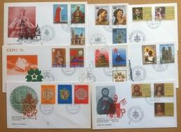 FDC Ala - Vaticano 1970 - Annata Completa - 8 Buste Non Viaggiate - Francobolli