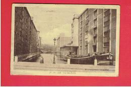 LILLE 1942 VUE DES DOCKS PENICHE CARTE EN BON ETAT - Lille