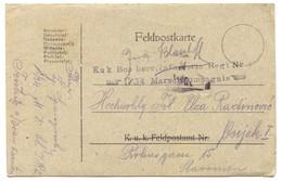 AUSTRIA HUNGARY WW1 - K.u.K. FELDPOST,  BOSNIA & HERZ. REGIMENT, Year 1917. TRAVELED TO OSIJEK CROATIA - Prima Guerra Mondiale