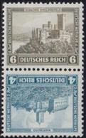 Deutsches  Reich   .    Michel   .    SK 15     .    **     .     Postfrisch    .   /  .   MNH - Se-Tenant
