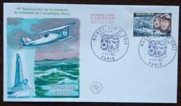 FDC 1967 - YT N°1523 - TRAVERSEE ATLANTIQUE NORD / NUNGESSER / COLI - PARIS - FDC