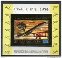 Guinea Ecuatorial 1974. UPU Golden Imperforated Block ** MNH. - Equatorial Guinea