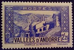 Andorre Andorra 1937 Chapelle église Chapel Church Yvert 84 * MH - Französisch Andorra
