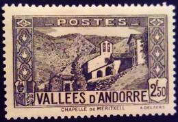 Andorre Andorra 1937 Chapelle église Chapel Church Yvert 86 * MH - Französisch Andorra
