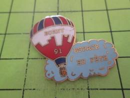 313E Pin's Pins / Beau Et Rare : THEME : MONTGOLFIERES / BALLON LIBRE BORNY 1991 ESPACE EN FETE - Montgolfières