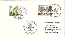 ITALIA. BUSTA. 75° ANNIVERSRIO   GUERRA 1915-18 MILANO 1990 - 1991-00: Storia Postale