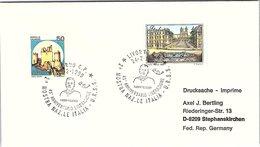 ITALIA. BUSTA. 45° ANNIVERSARIO LIBERAZIONE MOSTRA NAZ. ITALIA-URSS LIVORNO 1990 - 1991-00: Poststempel