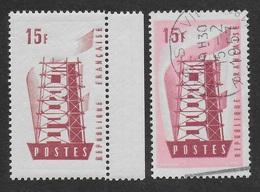 FRANCE -EUROPA - 1956 YT 1076** VARIETE SANS COULEUR DE FOND - France