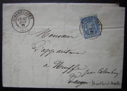Gondrecourt (Meuse) 1877 Prosper Godechaux Confections Pour Hommes Et Pour Dames, Laine Plumes Crin Duvet - Postmark Collection (Covers)