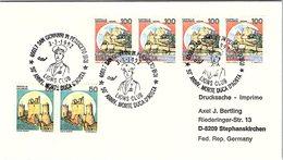 ITALIA. BUSTA. 50° ANNIVERSARIO MORTE DUCA D'AOSTA. LIONS CLUB  SAN GIOVANNI IN PERSICETO 1992 - 6. 1946-.. Repubblica